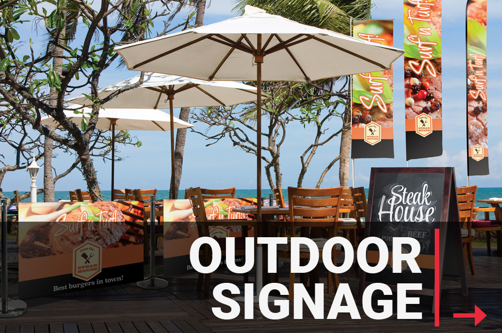 outdoor signage products and printing