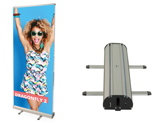 Dragonfly standard double sided roller banner stand