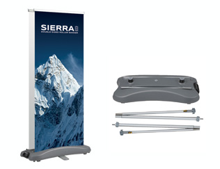 Premium outdoor double sided roller banner stand