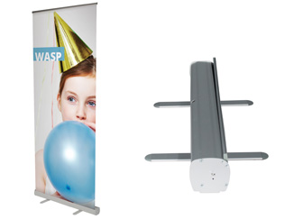 wasp budget roller banner stand