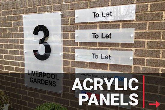 Custom Acrylic Panels & Signage Printing